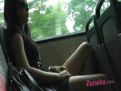 جنس: نكاح اليد, صديقتى السابقة, خارج المنزل, في الحافلة
