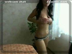 Porr: Vacker, Tonåringar, Webcam, Onani