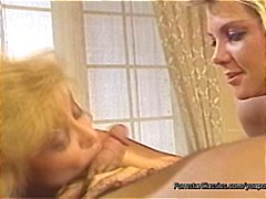 Classic porn video with nina hartley and another eating cock