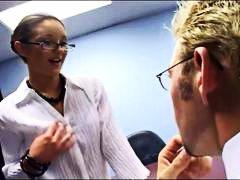 جنس: سيدات رائعات, نيك جامد, في المكتب, نظارات