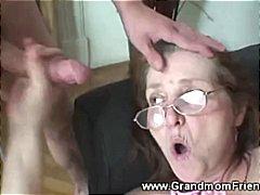 Porno: Yaşlı, Qoca Nənə, Sifətə Tökmək, Qızmış