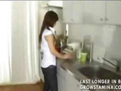 جنس: في المطبخ, مص, مراهقات, آسيوى