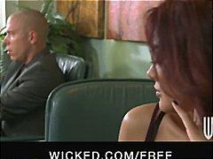 Porn: काले बाल वाली, कार्यालय, सचिव, मालिक