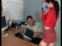 جنس: القذف, في المكتب, في المكتب, إمناء على الوجه