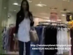 Amateur public sex in department store with mega hot chick