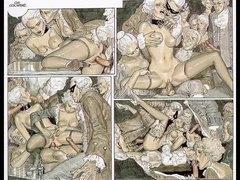 جنس: سحاقيات, تقييد وسادية, بزاز, آسيوى