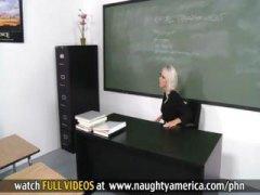 Lucah: Pancut Di Muka, Pelajar, Rambut Blonde, Muka