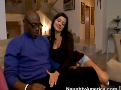Black dick has hot busty double date