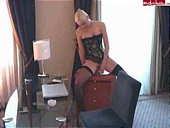 Porr: Fetisch, Nylonstrumpor, Tyska, Blond