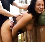 Nina clyde and johnny do some outdoor porno