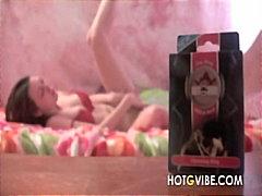 Porn: किशोरी, काले बाल वाली, खिलौना