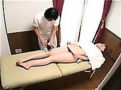Busty milf makes erotic massage