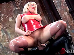 Fetish-time for this horny blond chick