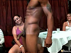 Babes take on a huge black cock