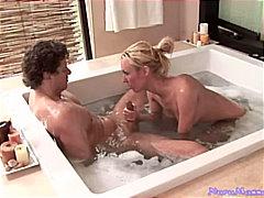 جنس: حمام, شقراوات, زوجان, مص