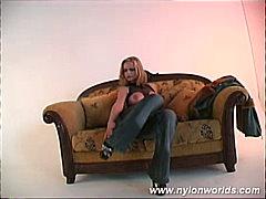 جنس: نجوم الجنس, شقراوات, جوارب طويلة, فتشية