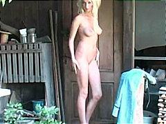 Porn: Blondinka, Slačenje, Pobrita