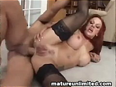 Fat cock in ass for red-head milf