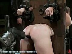 Porn: मूठ मारना, काले बाल वाली, बंधक
