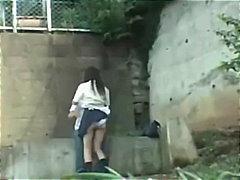 جنس: كاميرا مخفية, بنات مدارس, آسيوى, في العلن