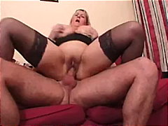 Porn: Okrogla, Nogavice, Blondinka, Velike Joške