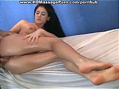 Porr: Mager, Blöt, Små Bröst, Massage