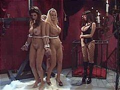 جنس: سحاقيات, ملابس جلدية لامعة, عبيد, تقييد