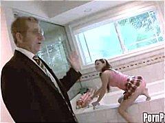 جنس: حمام, بنات جميلات, مراهقات, نحيفات
