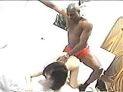 Mandingo fucks tight asian twat