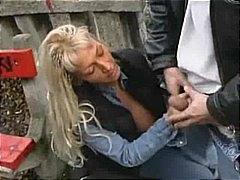 Porn: Dekle Drka Tiča, Blondinka, V Javnosti, Zunaj