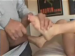 Smokie and angela in a foot fetish threesome with hot fucking
