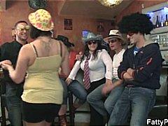 جنس: بدينات, مجموعات, حفلة, نساء بدينات جميلات