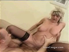 Old granny gets her pussy fucked in multiple positions