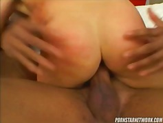 Blonde babe teoni gets her holes stuffed by two big black cocks