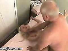 A mature doctor abusing a young female patient