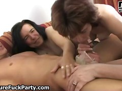 Four experienced mature housewifes part4