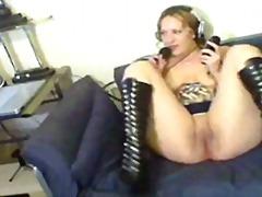 Porno: Masturbándose, Pelirroja, Webcam