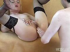 Porno: Masturbacija, Oralinis Seksas, Blondinės, Pora