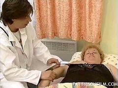 Porn: Par, Starejše Ženske, Blondinka, Žensko Spodnje Perilo