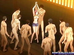 Porno: Grupinis, Hentai, Japonų Animacija, Grupinis Prievartavimas