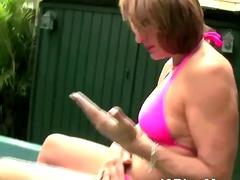 Porn: Milf, Starejše Ženske, Zunaj, Masturbacija