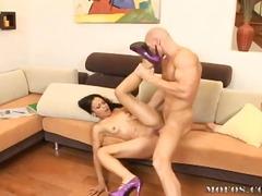 Porno: Sperma Ant Veido, Didelis Penis, Hardcore, Brunetės