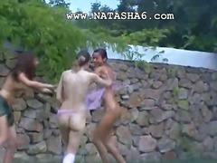 جنس: سحاقيات, روسيات, خارج المنزل, سحاقيات