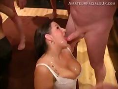 Porno: Me Fytyrë, Plot Spermë, Thithje, Gjokset