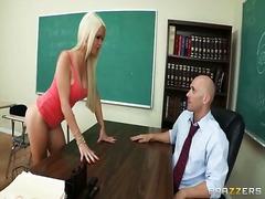 Porno: Skolotāja, Orālais Sekss, Blondīnes, Skola