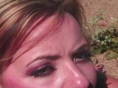 Porno: Cumshot, Rødtopp, Utendørs, Håndjager