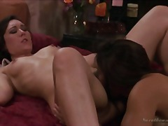 Two hot lesbian babes fucking together in a sensual way !