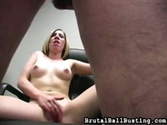 Mix of ballbusting clips from brutal ball busting