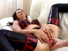 포르노: 섹시한중년여성, 브루넷, 나이든여자, 라텍스