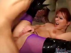 Porn: Mrežaste Nogavice, Obrazno, Rdečelaska, Zunanji Izliv